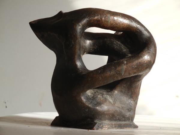 Věčný souboj, výška 17 cm, bronz