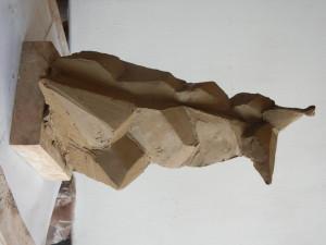 Model k soutěži o pomník Marie Terezie, výška 40 cm, patinovaná sádra